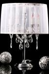 Barock Hockerleuchte 4-Flammig, Weiß, nostalgische Tischleuchte, Leuchte Lampe