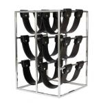 Designer Weinregal Stainless Steel für 6 Flaschen - Flaschenhalter - Weinflaschen Ständer