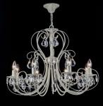 Casa Padrino Barock Kristall Decken Kronleuchter Cream Gold 71 x H 54 cm Antik Stil - Möbel Lüster Leuchter Hängeleuchte Hängelampe