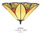 Handgefertigte Tiffany Wandleuchte von Casa Padrino Länge 30 cm, 1-Flammig - Leuchte Lampe