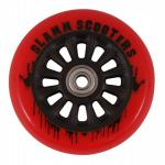 Slamm Profi Scooter Rolle NY Core Red 100mm / 88A (1 Rolle) inkl Koston Abec 7 Kugellager