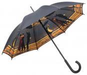MySchirm Designer Herren Regenschirm Jack Vettriano Singing Butler Eleganter Stockschirm Herrenschirm