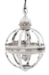 Casa Padrino Barock Hängeleuchte vernickelt Kugel Silber Durchmesser 30 cm, Höhe 50 cm - Barock Schloss Lampe Leuchte Laterne