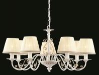 Casa Padrino Barock Decken Kronleuchter Weiß Gold 74 x H 39 cm Antik Stil - Möbel Lüster Leuchter Hängeleuchte Hängelampe