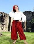 John Silver Striped Pants Black/Red - Medieval Pirat