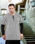 John Nutt Striped Piraten Shirt - Black - White