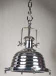 Casa Padrino Industrial Hängeleuchte Silber Vernickelt 40 x 40 x 53 cm - Industrie Design Vintage Lampe Leuchte