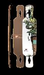 Fibretec Longboard Drop Through Deck S-Flex 1040 - V-lam Bambus Longboard Profi Deck - Medium Flex