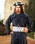 Francis Drake Piraten Shirt - Black
