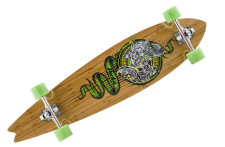 Mindless Complete Longboard Talisman Peche - 39.5 x 9.375 inch - Profi Concave Pintail Canadian / Bamboo Wood mit Koston Kugellagern