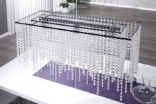 Casa Padrino Hängeleuchte Bling Bling 80 x 45 cm x 30 cm - Leuchte Lampe - Lange Deckenleuchte