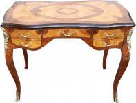 Casa Padrino Luxus Barock Schreibtisch Mahagoni Wurzelholz Furnier 100 x 80 x 58 cm- Sekretär Luxus Möbel