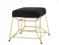 Casa Padrino Luxus Sitz Hocker Gold Finish 52 x 52 x H. 46 cm - Luxus Kollektion