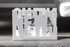 Casa Padrino Designer Zeitungsständer weiss Höhe: 29cm, Breite: 42cm, Tiefe: 11cm - Zeitungskorb, Zeitschriftenkorb Newspaper