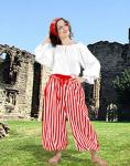 John Silver Striped Pants White/Red - Medieval Pirat