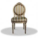 Casa Padrino Barock Salonstuhl Vintage Gold 50 x 50 x H. 100 cm - Antik Möbel