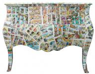 Casa Padrino Barock Kommode Comic Design - Handgefertigt aus Massivholz- Limited Edition