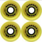 Big Foot Longboard Wheels Boardwalks Gelb 68mm / 80a Wheel Set Rollen Skateboard Bigfoot