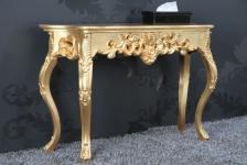 Casa Padrino Konsolentisch Gold - Barock Konsole Möbel