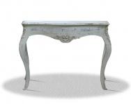 Casa Padrino Barock Konsole Vintage Weiß Silber 100 x 40 x H. 85 cm - Antik Stil Möbel