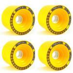 Koston Longboard Wheel Set Storm Ball Gelb 75mm / 83A (4 Rollen)