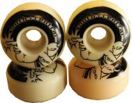 SPECIAL! South Central Skateboard Rollen Set Weiß 56mm, 100A (1 Set = 4 Rollen) - Profi Wheels Set Wheels - leicht vergilbt!