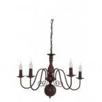Casa Padrino Barock Decken Kronleuchter Braun Durchmesser 70 x H 52 cm Antik Stil - Möbel Lüster Leuchter Deckenleuchte Hängelampe