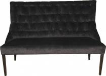 Casa Padrino Chesterfield Sitzbank / Sofa Schwarz Esszimmer Bank B 155 cm, H 108 cm, T 70 cm