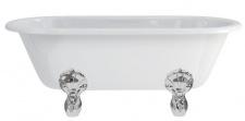 Casa Padrino Jugendstil Badewanne freistehend 1700mm BWin Weiß - Freistehende Retro Antik Badewanne