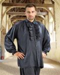 Medieval Dress Piraten Shirt - Black