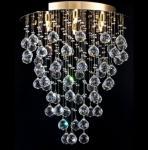 Casa Padrino Modern Decken Kristall Kronleuchter Gold 45 x H 54 cm Antik Stil - Möbel Lüster Leuchter Hängeleuchte Hängelampe