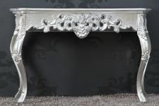 Casa Padrino Barock Konsolentisch Silber - Damen Schreibtisch - Sekretär Konsole - Damen Schminktisch
