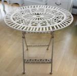 Jugendstil Gartenmöbel Tisch Altweiss Oval - Garten Tisch Klappbar - Gartentisch