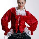 Mary Read Piraten Bluse - Red