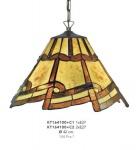 Handgefertigte Tiffany Hängeleuchte von Casa-padrino Durchmesser 42 cm, 2-Flammig - Leuchte Lampe - wunderschöne Pendelleuchte