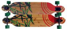 Paradise Longboard Skateboard Bamboo Sun Drop Through Bamboo Complete Longboard