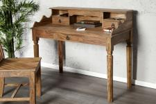 Casa Padrino Barock Sekretär mit Schubladen aus edlem Sheeshamholz - Schreibtisch - Sekretär Konsole - Luxus Qualität