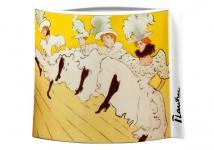 """Handgearbeitete Vase aus Porzellan mit einem Motiv von T. Lautrec """" La Troupe de Mademoiselle Eglantine"""", oval, Höhe 20 cm - feinste Qualität aus der Tettau Porzellanfabrik - wunderschöne Vase"""