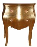 Casa Padrino Barock Kommode mit 2 Schubladen Gold Antik-Look H 76 cm, B 62 cm - Nachttisch Konsole