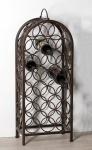 Casa Padrino Designer Weinregal aus Metall für 20 Flaschen H 83 cm, B 34 cm - Weinflaschenständer - Flaschenablage