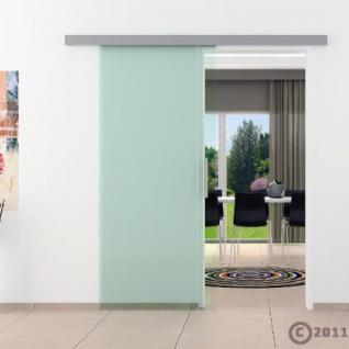 Glasschiebtüren 775 x 2050 x 8 mm Klarglas Stangengriff - Vorschau 2