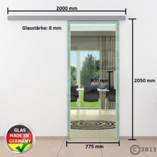 Glasschiebtüren 775 x 2050 x 8 mm Klarglas Stangengriff - Vorschau 4