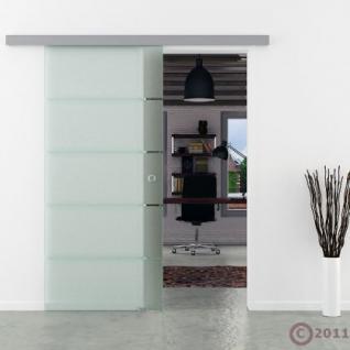 Glasschiebetür gestreift satiniert Schiebetür Streifen - Vorschau 2