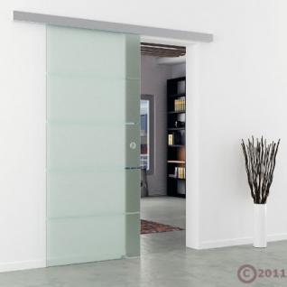 Glasschiebetür gestreift satiniert Schiebetür Streifen - Vorschau 3