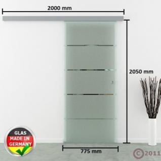 Glasschiebetür gestreift satiniert Schiebetür Streifen - Vorschau 4