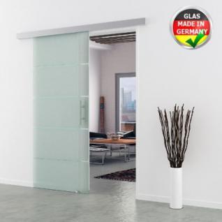 GLASSCHIEBETÜR MODELL DORMA AGILE 50 Glas Streifen