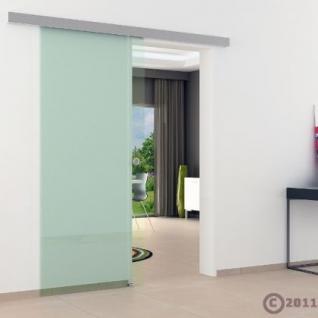 Glasschiebtür 900 x 2050 mm Klarglas Griffmuschel Edel. - Vorschau 3