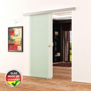 Glasschiebetür komplett 900x2050 satiniert DORMA AGILE