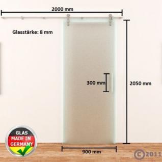 Ganzglasschiebetür 900 x 2050 mm Satino Edelstahlsystem NEU offene Laufrollen - Vorschau 4