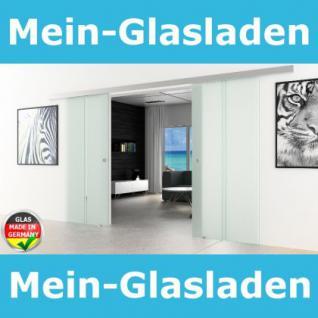 Doppel-Glasschiebetür 2x775x2050mm 2-flügelig gestreift